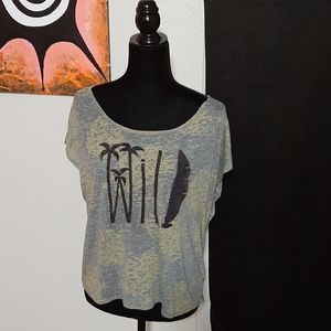 Paper Crane open back burnout WILD tee